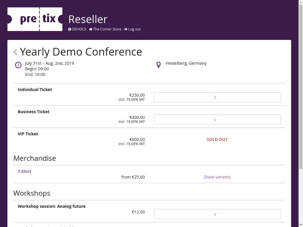 Features – pretix – Reinventing ticket sales for conferences